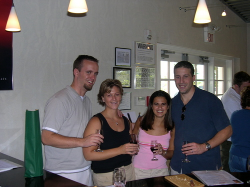 Me, Nena, Sara and Paul at Lieb Family Cellars...